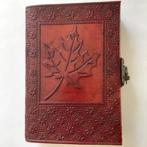 Leather journal, handmade.